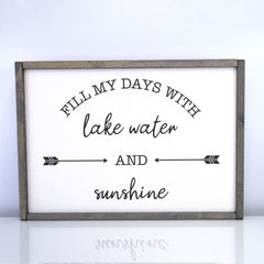 Fill My Days | 14 x 20 Vintage