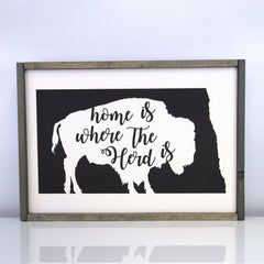 Home Is Where Our Herd Is | 14 x 20 Vintage