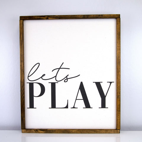 Lets Play | 17 x 20 Classic