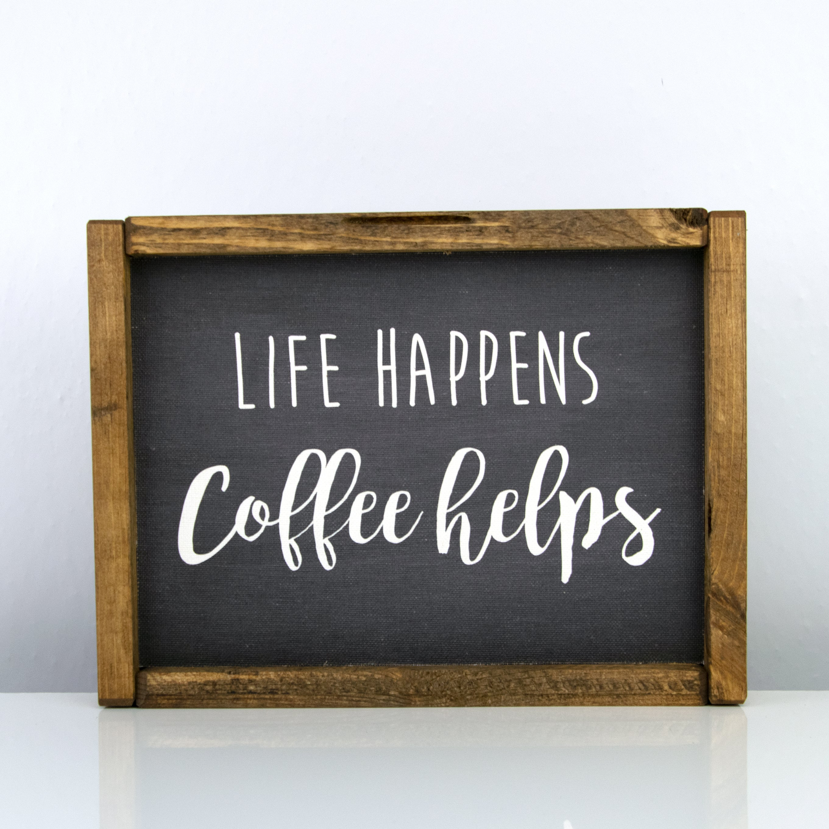 Life Happens Coffee Helps | 8 x 10 Bold