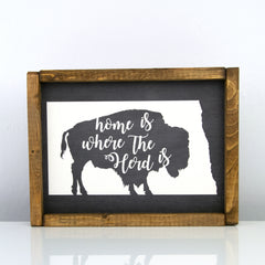 Home Is Where Our Herd Is | 8 x 10 Bold