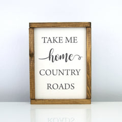 Country Roads | 8 x 10 Classic