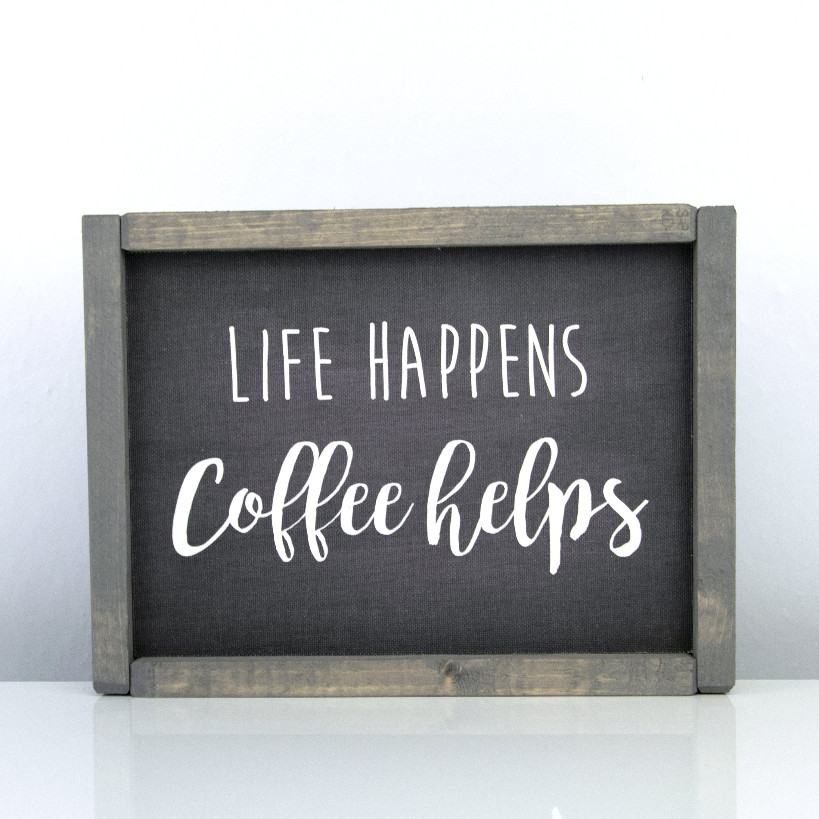 Life Happens Coffee Helps | 8 x 10 Midnight