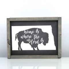 Home Is Where Our Herd Is | 8 x 10 Midnight