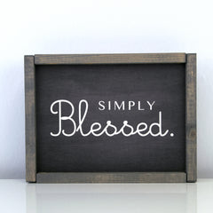 Simply Blessed | 8 x 10 Midnight