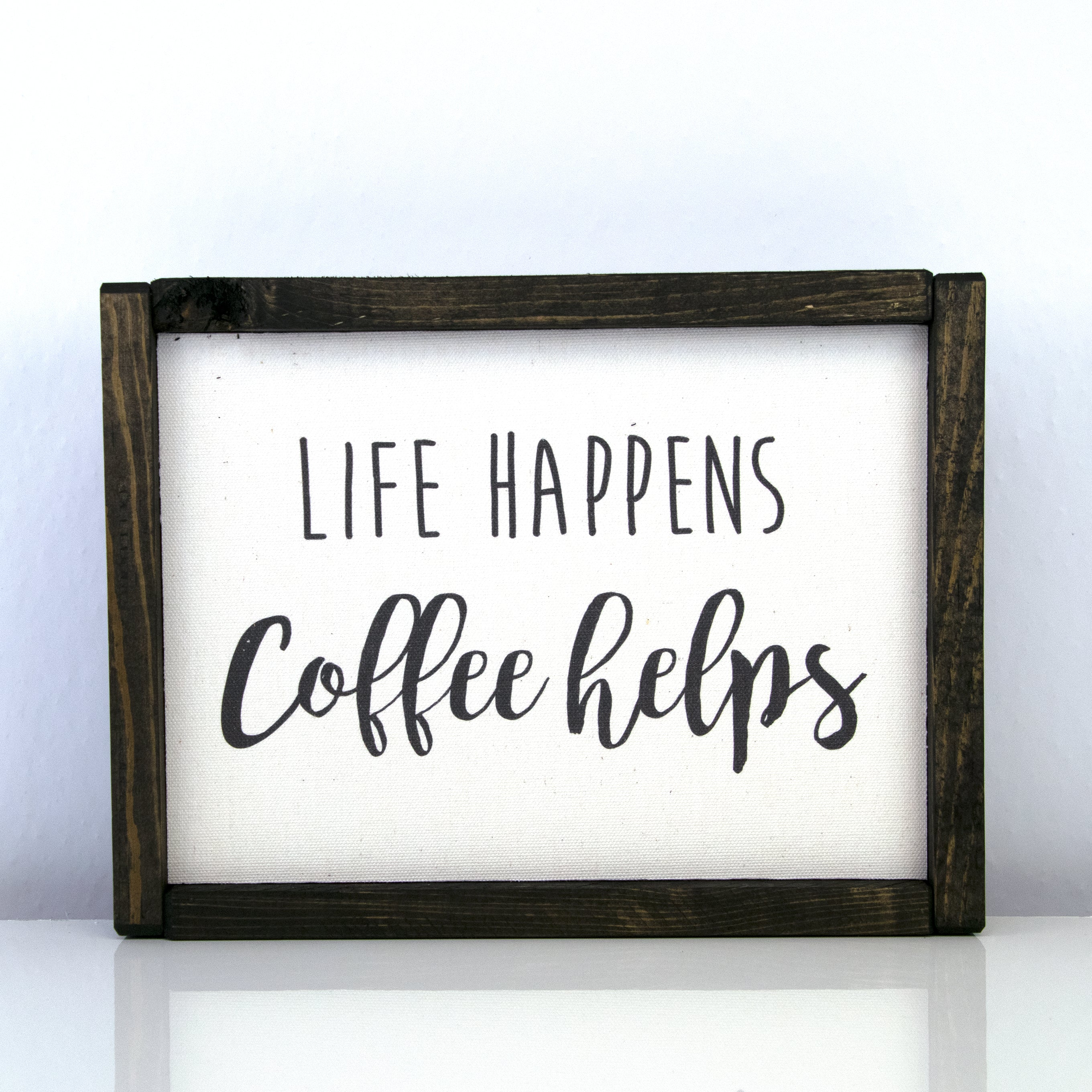 Life Happens Coffee Helps | 8 x 10 Modern