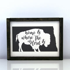 Home Is Where Our Herd Is | 8 x 10 Modern