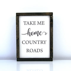 Country Roads | 8 x 10 Modern