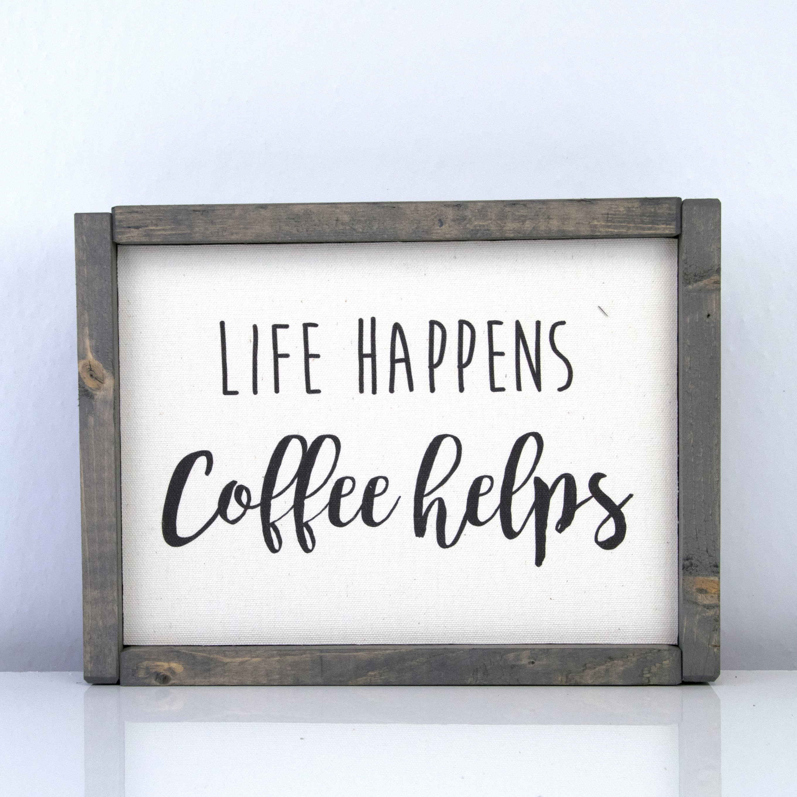 Life Happens Coffee Helps | 8 x 10 Vintage