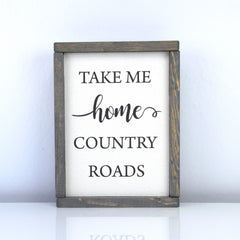Country Roads | 8 x 10 Vintage