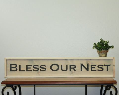 Bless Our Nest | 7 x 36 Antique