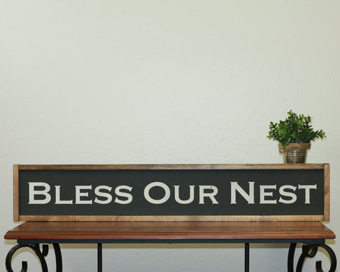 Bless Our Nest | 7 x 36 Bold