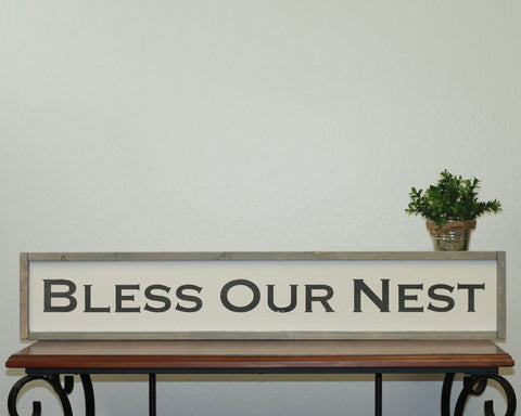 Bless Our Nest | 7 x 36 Vintage