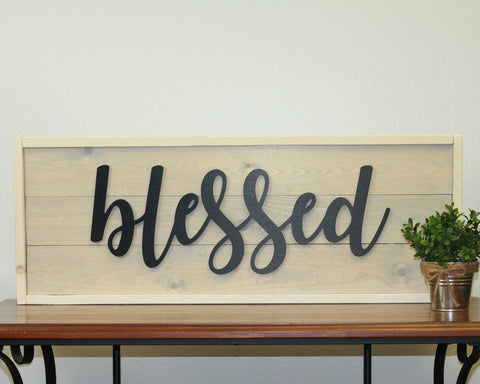 Blessed | 10 x 30 Antique