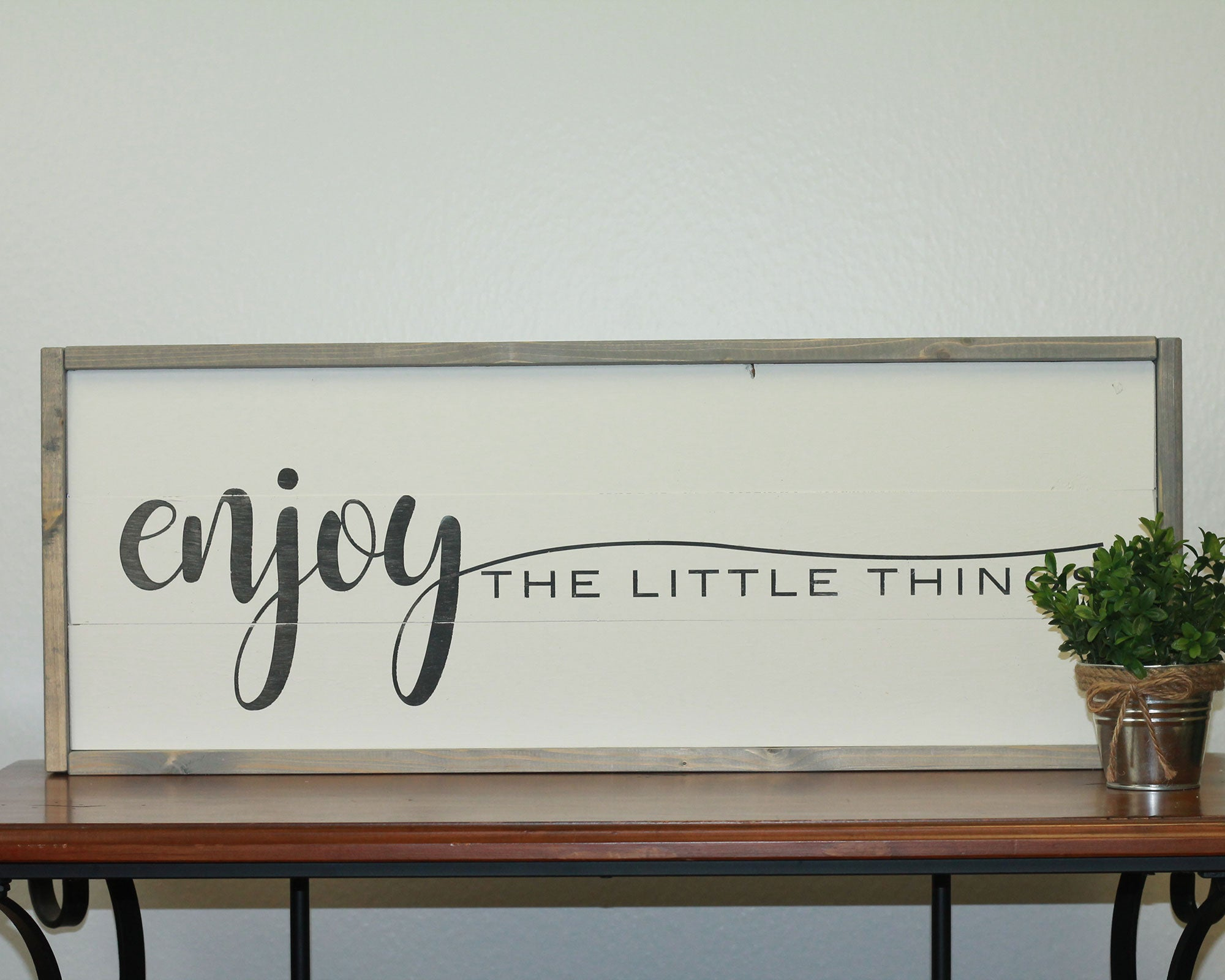 Enjoy The Little Things | 10 x 30 Vintage