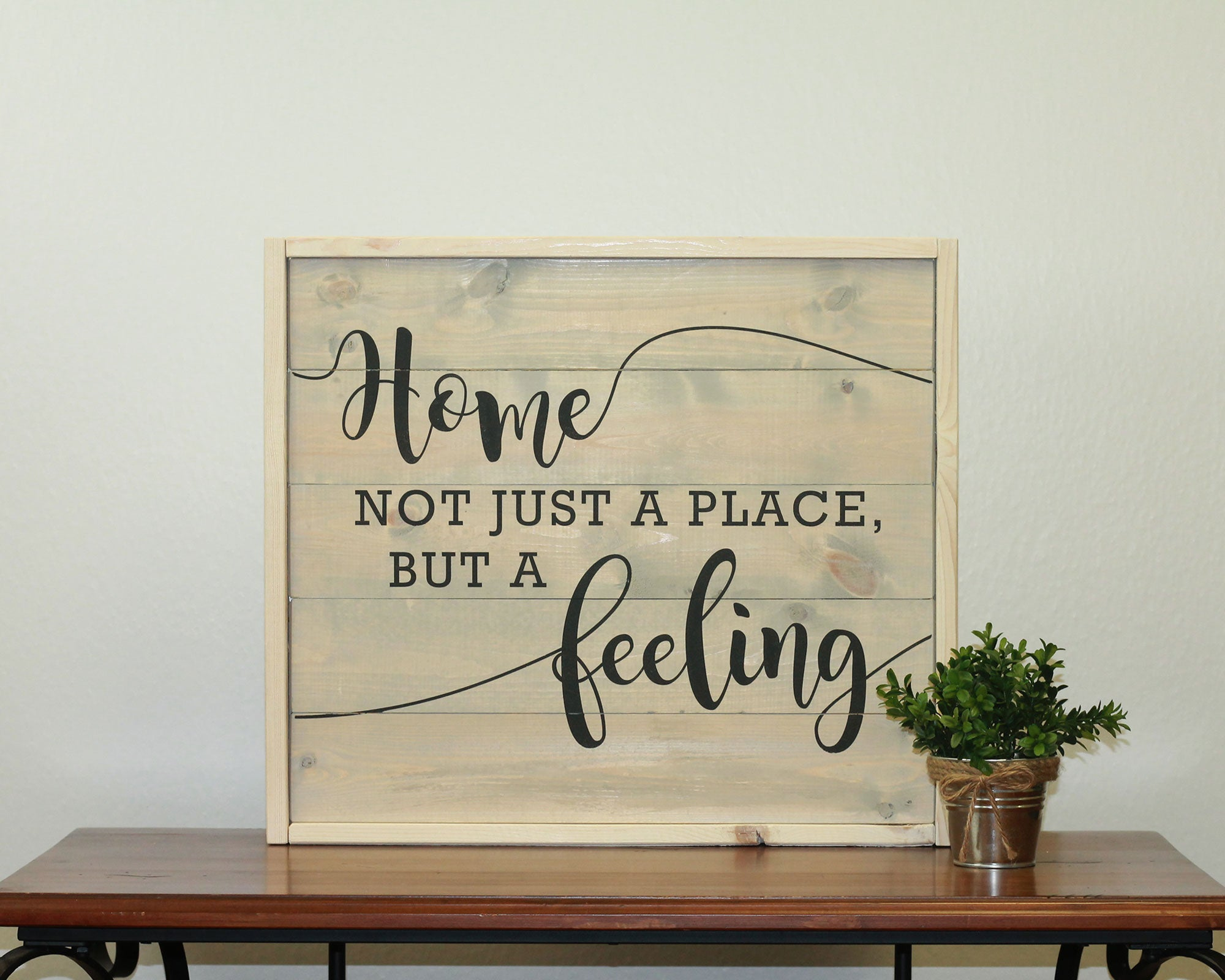 Home Is A Feeling | 17 x 20 Antique