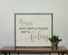 Home Is A Feeling | 17 x 20 Vintage