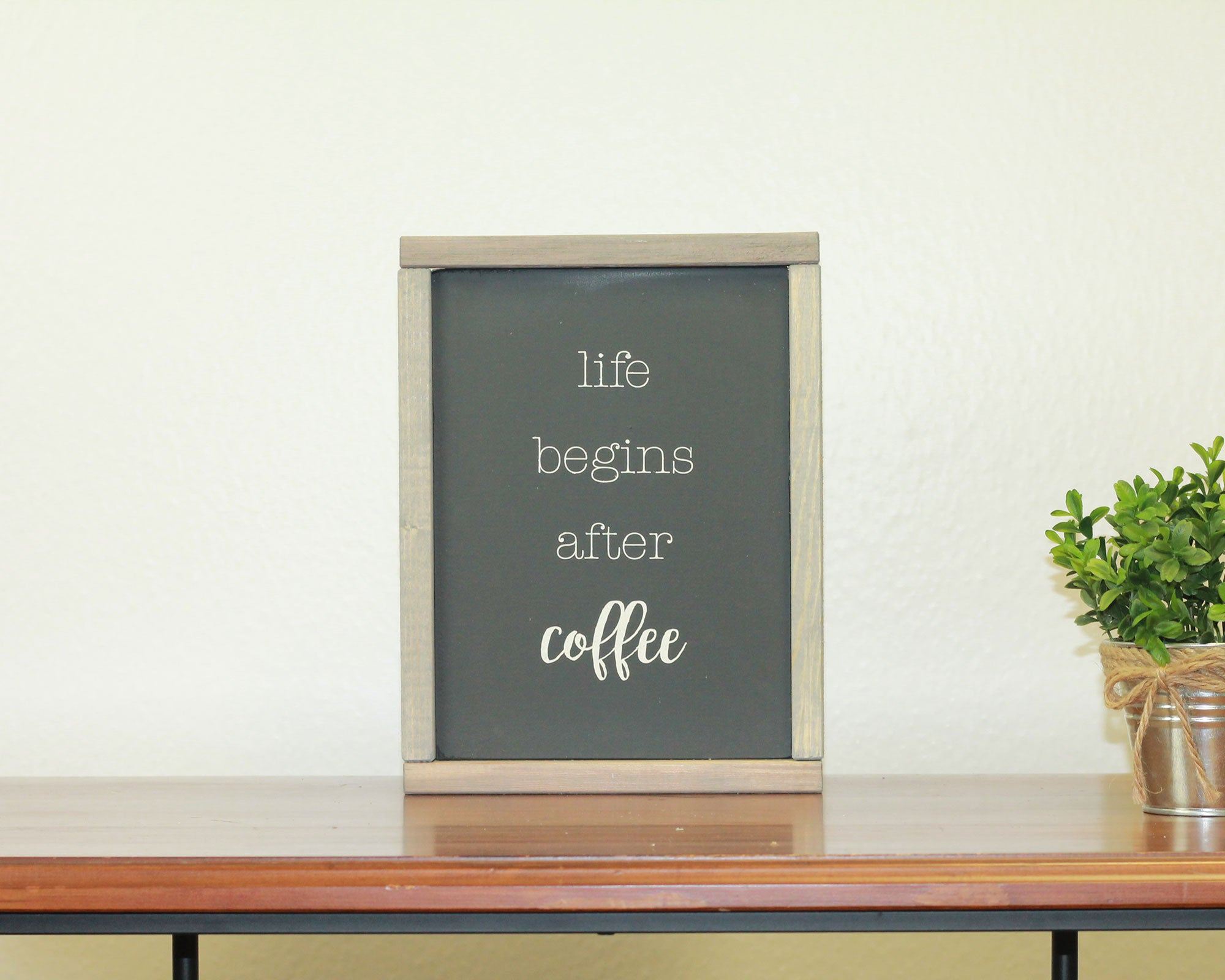 Life Begins After Coffee | 8 x 10 Midnight