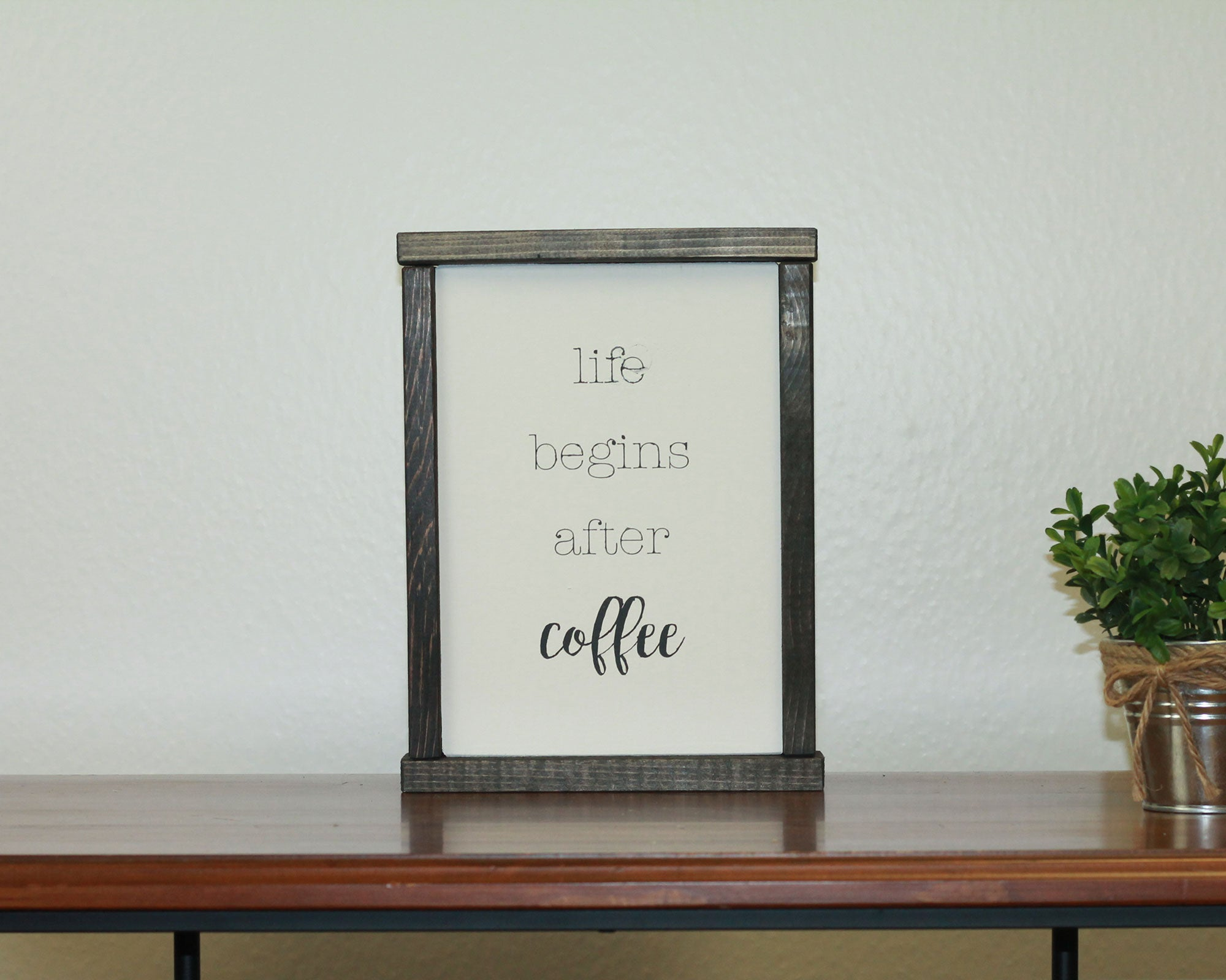 Life Begins After Coffee | 8 x 10 Modern