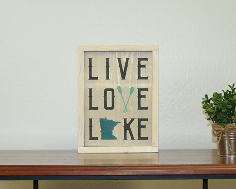 Live Love Lake | 8 x 10 Antique
