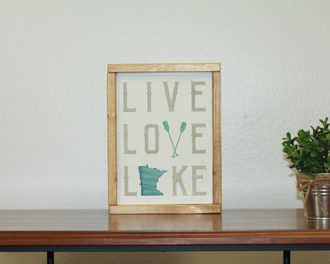 Live Love Lake | 8 x 10 Northwoods