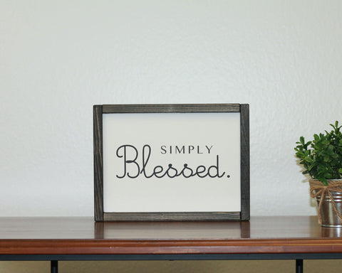 Simply Blessed | 8 x 10 Modern