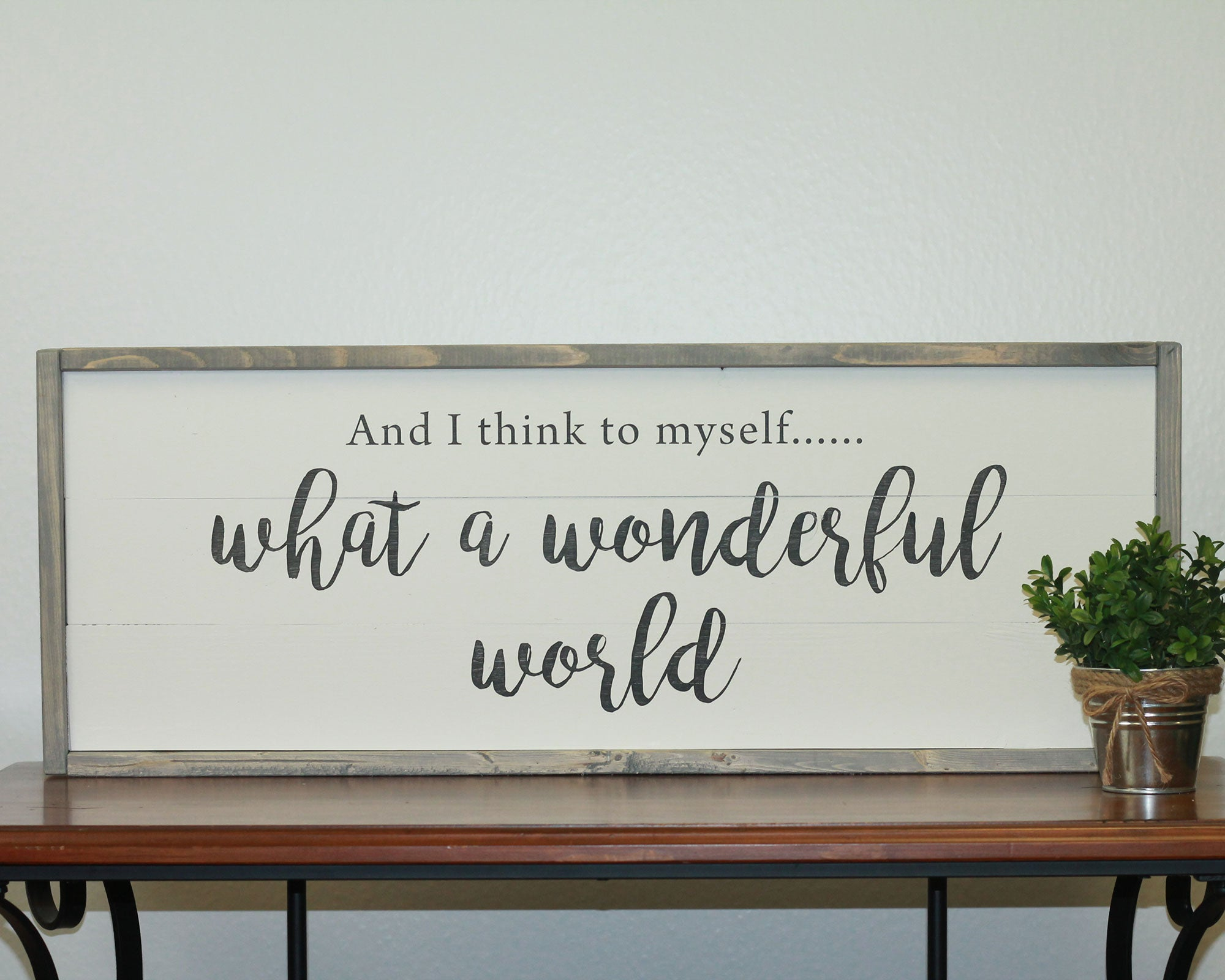 Wonderful World | 10 x 30 Vintage
