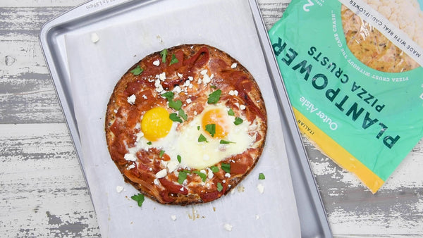 Low Carb Shakshuka Breakfast Pizza