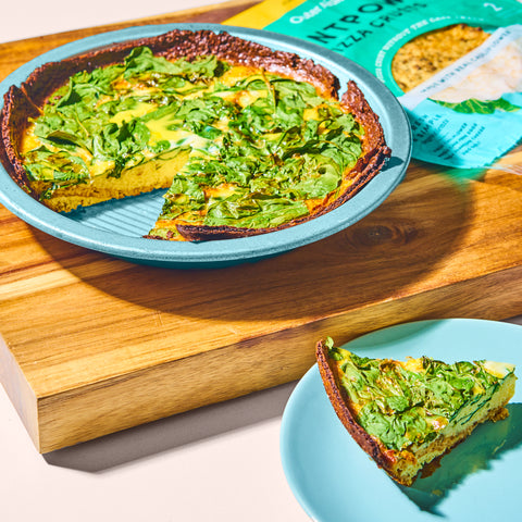Outer Aisle Pizza Crusts - Spinach and Swiss Quiche