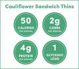 Plantpower™ Cauliflower Sandwich Thins, Nutrition Facts