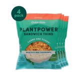 Plantpower™ Cauliflower Sandwich Thins (4-Pack Bundle), Jalapeno Cauliflower Sandwich