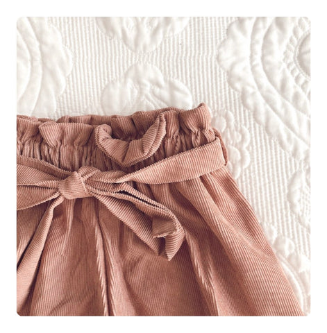 Emmy Paper Bag Shorts - Rose