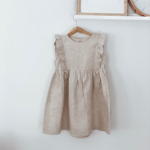 Ottie Linen Flutter Dress