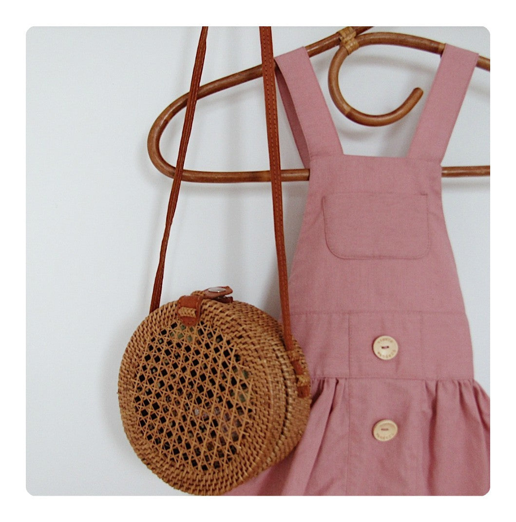 Dusty Pinafore Dress
