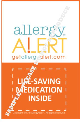AllergyAlert Medication Luggage Tag - Set of 2