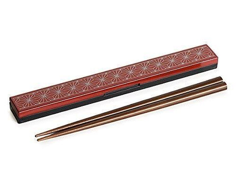 Asanoha Leaf Chopstick Set | Red by Sabu Hiromori - Bento&con the Bento Boxes specialist from Kyoto