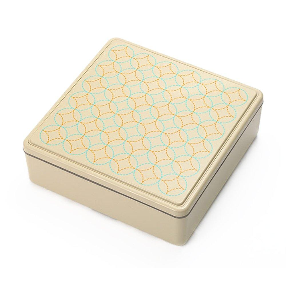 Gel-Cool Ojyu Shokado Bento Box | Beige (七宝)