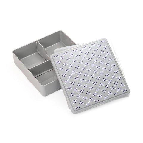 Gel-Cool Ojyu Shokado Bento Box | Gray(花菱形)