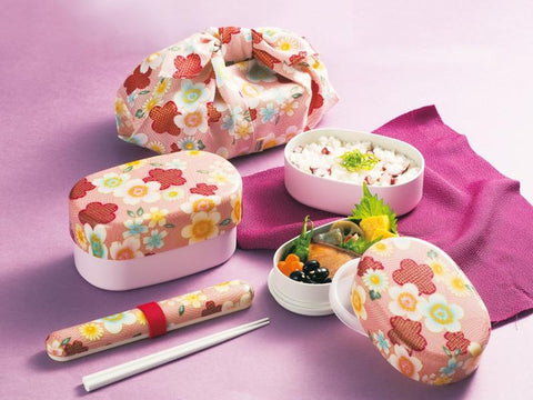 Kaga Sakura Bento 480ml | Pink by Hakoya - Bento&co Japanese Bento Lunch Boxes and Kitchenware Specialists
