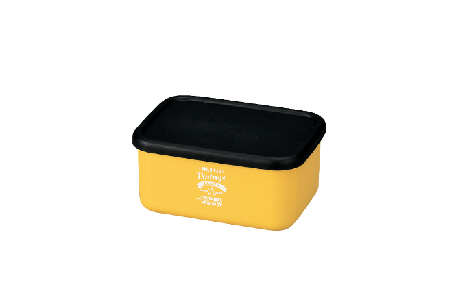 American Vintage Bento Box Small | Yellow by Hakoya - Bento&co Japanese Bento Lunch Boxes and Kitchenware Specialists
