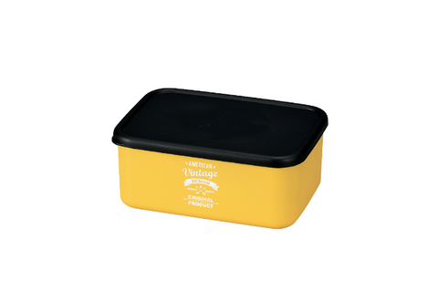 American Vintage Bento Box Medium | Yellow by Hakoya - Bento&co Japanese Bento Lunch Boxes and Kitchenware Specialists
