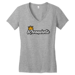 "Khronaholic ""CannaCrown"" Ladies V-Neck T-Shirt"