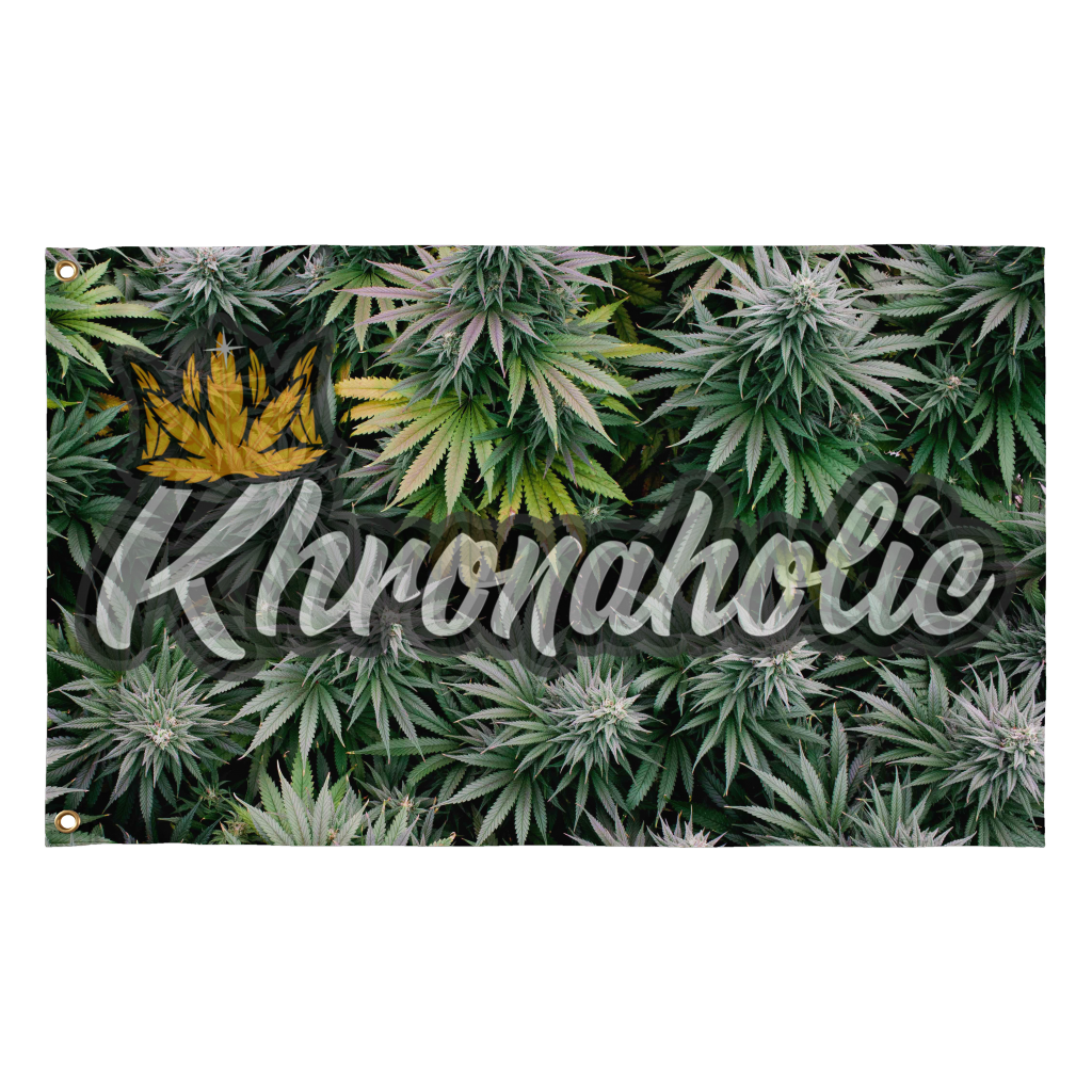 "Khronaholic ""Buds All Over"" CannaCrown Collection Flag"