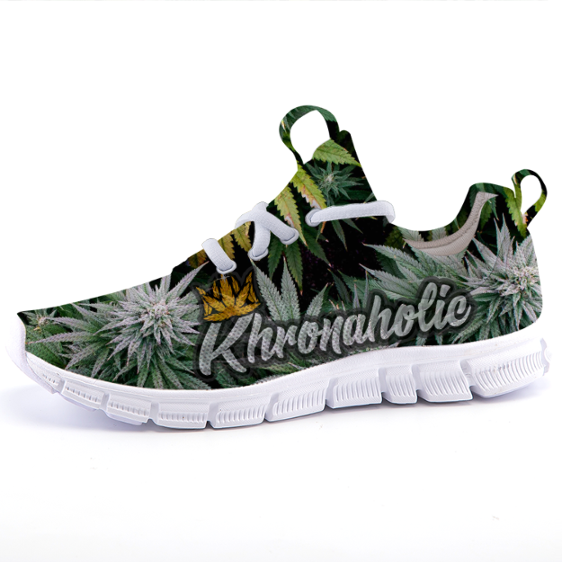 "Khronaholic ""Buds All Over"" CannaCrown Collection Casual Sports Sneaker Shoes"