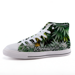 "Khronaholic ""Buds All Over"" CannaCrown Collection HIGH-Top Shoes"