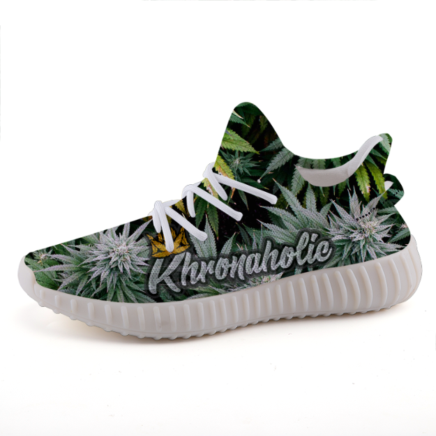 "Khronaholic ""Buds All Over"" CannaCrown Collection ComfortCushion Sports Casual Sneaker Shoes"