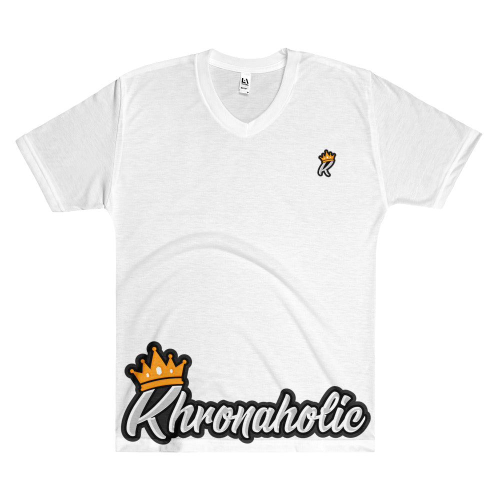 "Khronaholic ""King"" Men's V-Neck T-Shirt"
