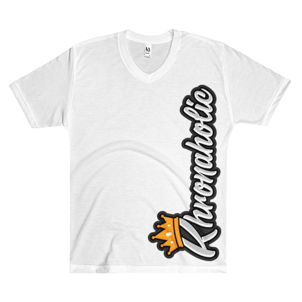 "Khronaholic Logo ""From The Side"" Men's V-Neck T-Shirt"