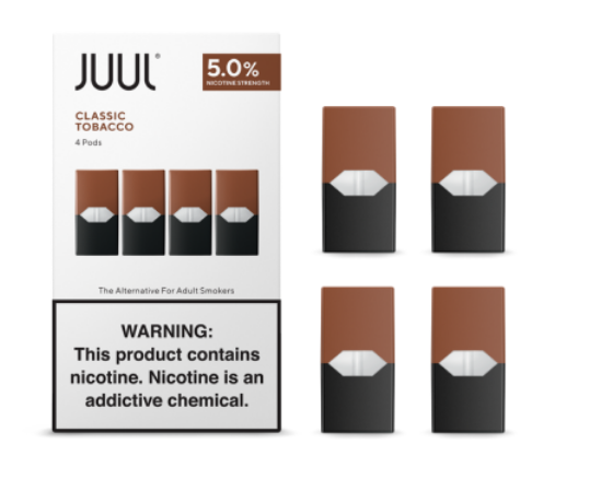 JUUL Labs Classic Tobacco JUUL Wholesale Special ($17.00/Pk) (8 Packs)