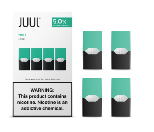 JUUL Labs Cool Mint JUUL Wholesale Special ($17.00/Pk) (8 Packs)